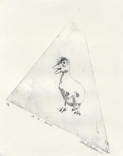 Quack! - Non Toxic Drypoint Print