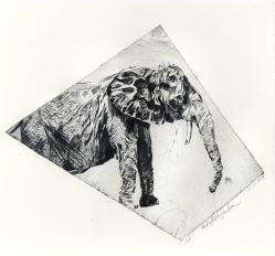 Elle II - Non Toxic Drypoint Print