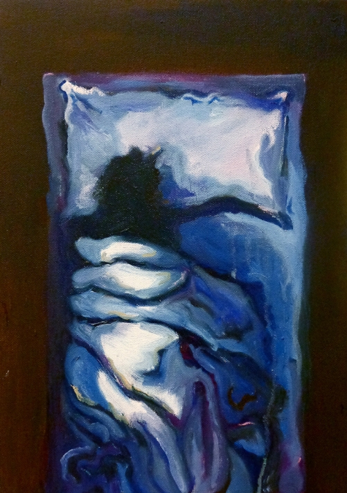 Empty Bed, Oil on Canvas, 10 x 15, 2013