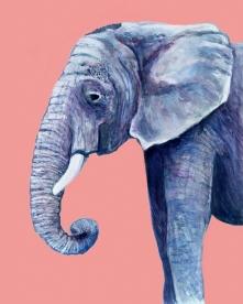 Elephant - Gouache and Digital