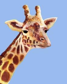 Giraffe - Gouache and Digital