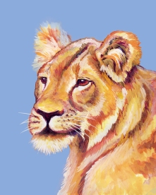 Lion - Gouache and Digital