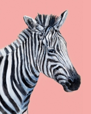 Zebra - Gouache and Digital