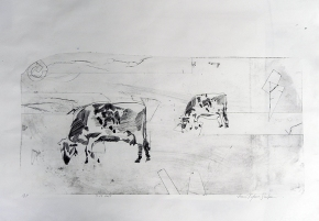 Grazing - Proof, Drypoint 2015