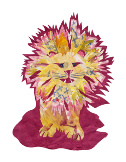 Lion - Set 1, Collage, 2015
