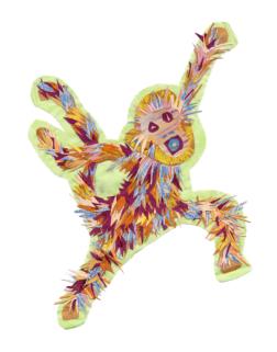 Monkey - Set 1, Collage, 2015