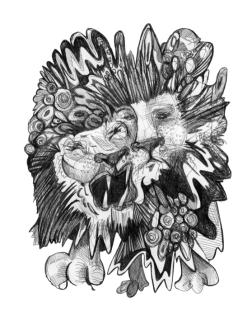 Lion- Set 2, Pen, 2015