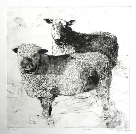 Two Brothers- Proof, Drypoint, 2015
