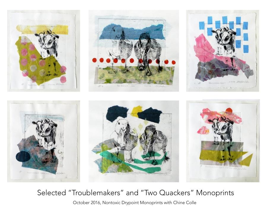 DrypointMonoprintsChineColle_Troublemakers_TwoQuackers_2016_Savka_Web_00.jpg